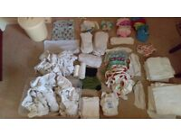 Bundle of reusable nappies and accessories