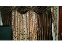 Living room brown curtains