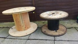 2 Wooden drums ideal for making into garden table