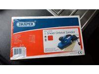 New Draper 1/2 Sheet Orbital Sander 230V