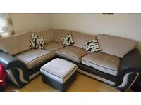 3 seater corner sofa with storage footstool
