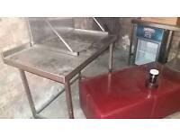 Stainless steel worktop prep table 3