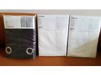 3 pairs of ikea curtains - new