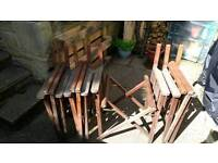 4 Wooden garden directors chairs