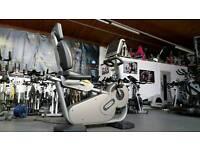 Technogym recline bike. Commercial gym equipment