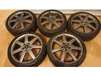 2002 mercedes A210 evolution , 17 inch original alloy wheels and tyres (set of 5)