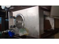 Catering equipment commercial stainless steel grills fryers shelving sinks tables kebab coffee