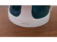 Mamas & Papas Baby Seat with tray white & teal - excellent condition