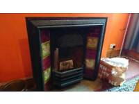 Victorian tiled fireplace surround