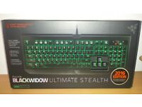 Razer Blackwidow Ultimate 2016 Stealth Mechanical Gaming Keyboard (UK Layout) new