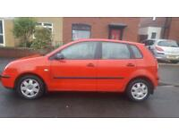 2003 VW POLO RED, 1 YEAR MOT, SPARES OR REPAIR, £500 ONO