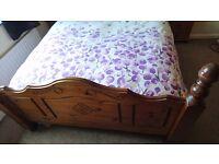 Solid Oak Double Bed