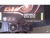 Geforce 1070 gtx Oc edition gpu