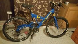Blue Cannondale Super V 1000 Bike