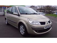 7 SEATER RENAULT GRAND SCENIC 1.6 MANUAL IN EXCELLENT CONDITION. I YEAR MOT. FULL SERVICE HISTORY.
