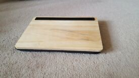 Wooden lap desk for iPad