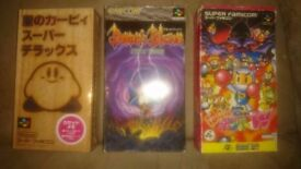 Japanese snes games - Demons Blazon (Crest), Kirby and Bomberman