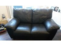 IKEA Dark Brown Leather Sofas