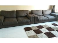 ****REDUCED FROM £350 to £250 FOR QUICK SALE*** Harveys 2 large brown fabric sofas