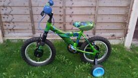 "Raleigh boys bike 14"" wheels"