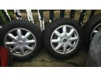 4 mini alloys with tyres