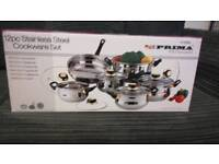 12pc Stainless steal cookware set
