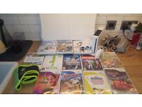 Nintedo wii with, wii fit, wii sports Zumba and 9 games