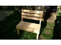 Garden furniture wooden bench hand made home made