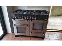 Rangemaster 1100 Electric oven with five burner gas hob. Professionally cleaned 21 April 2017.