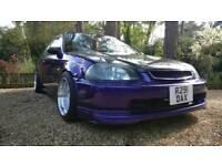 B16A2 swapped ek Kawasaki purple!