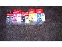 16 X New and Sealed Canon BCI-6 C/M/Y/K and BCI 3e Ink Cartridges Job Lot