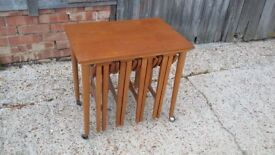 Vintage Retro Coffee Table Tables Nest of Four Pull Out Module Modular