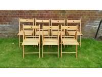 7 Ikea chairs terje wooden