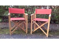 2 Foldable Chairs - Multiple Use - Weatherproof durable - Stylish, Solid and really useful to have