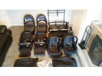 Twin travel system in excellent condition only used for 6 months