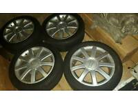"Audi S-line 17"" Alloy wheels with tyres"