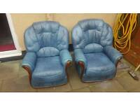 *FREE TO COLLECTOR* leather chair + 2 seater