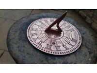 Stone Vine Sundial and Birdbath