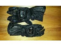 Motorcycle Leather black gloves