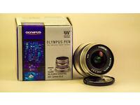 New Olympus M.Zuiko Digital ED 12mm f/2.0 Lens (Silver) (f2, f 2, Panasonic / micro 4/3)