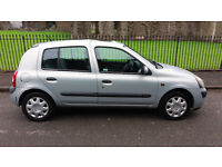 2002 RENAULT CLIO EXPRESSION+ 16V SILVER 1.1, MOT 30/05/2017 GREAT RUNNER 350ono
