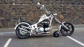 Customized chopper motorbike