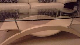 Coffee table and side console
