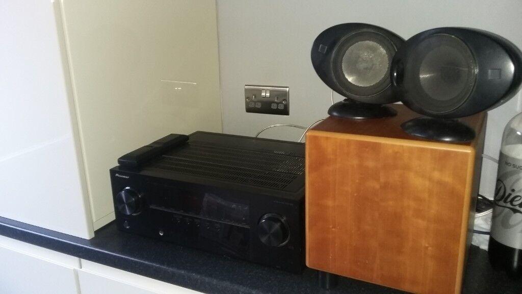 AV receiver pioneer VSX-322, REL Quake subwoofer, KEF egg speaker x 2 | in  Reading, Berkshire | Gumtree