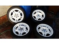 bmw e36 alloy wheels motorsports 17 inch drift parts £150ono