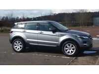 June 2013- Land Rover Evoque Pure, SD4 in Orkney Grey.