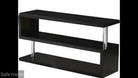 Tv stand black high gloss