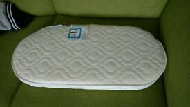 Crib and/or moses basket oval mattress (never used)