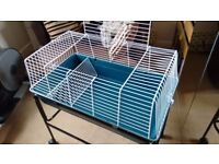 Large Indoor Cage & Stand with Wheels - Great for small rabbit, hamster, ferret, guinea pig, etc