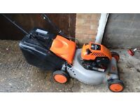 Petrol self propelled rotary lawn mower with grass box 4 stroke engine height adjustment gwo